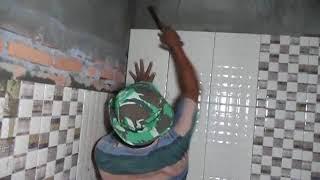 Cara cepat memasang keramik pada dinding bata tanpa diplaster.