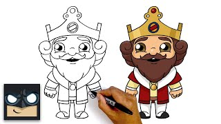 How To Draw Burger King | Step By Step Tutorial