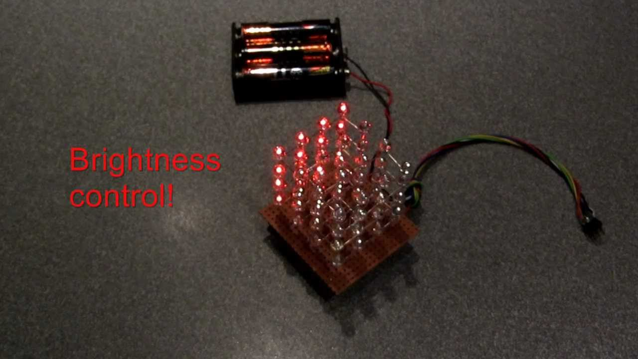 Build This Simple Led Cube 4x4x4 Youtube Circuit With Discoloring Lightemitting Diode Basiccircuit