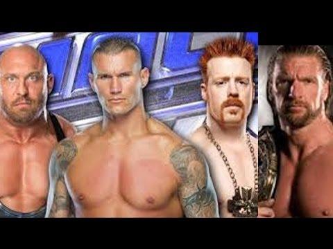 مصارعة WWE2K14  مباراة قوية | HHH ضد Ryback ضد Sheamus ضد Randy Orton