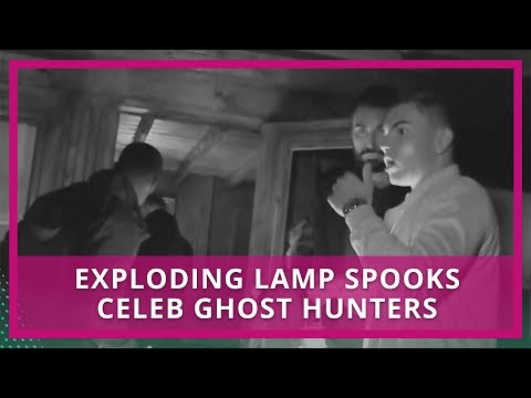 Exploding Lamp Spooks Rylan & Celebrity Ghost Hunters