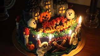 할로윈 유령의 집 케이크 / halloween haun…