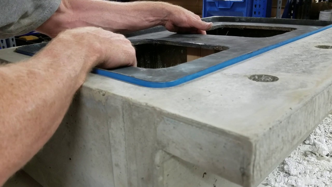 How To Remove Stuck Concrete Sink Molds Youtube