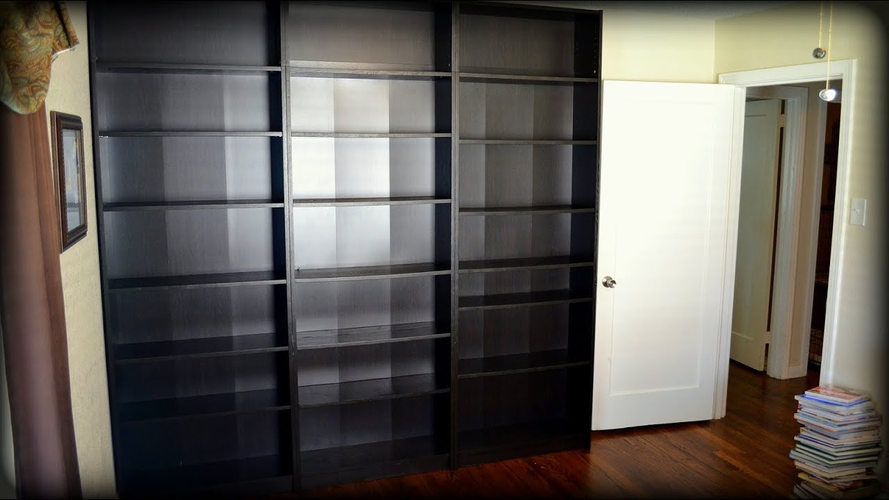 Building Ikea Billy Bookcases - Construction Time-lapse - YouTube