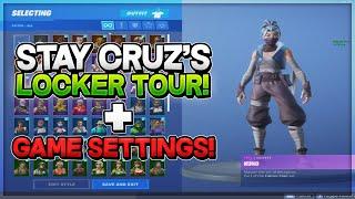 Stay CruZ's Fortnite Locker Tour in SEASON 8! (100+ Skins) + *Game/Nvidia/Mouse Settings!*