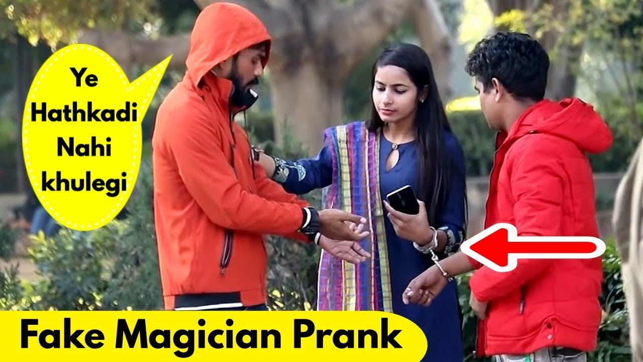 Fake Magician Prank with Handcuffs | Prank Rush | Pranks in india
