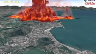 Video-simulazione dell'eruzione dei Campi Flegrei (di INGV)