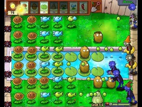 стратегия  как играть    растения против зомби!!НАЧАЛО