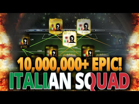 EPIC 10,000,000+ COINS ITALIAN SQUAD FIFA 15 ULTIMATE TEAM