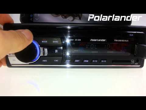 Polarlander Car Radio 12V 1 Din Bluetooth Test Support Aux/SD/USB For Android iPhone