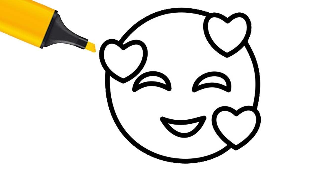 Смайлики картинки для срисовки карандашом для начинающих