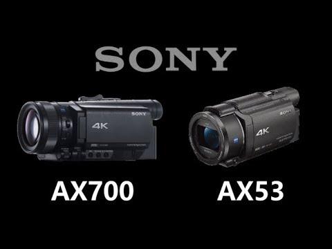 Sony FDR-AX700 vs Sony FDR-AX53