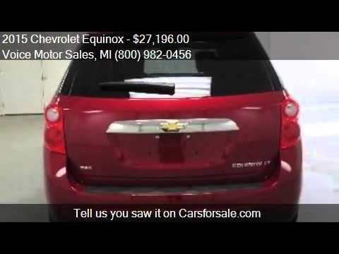 2015 chevrolet equinox for sale in kalkaska mi 49646 at for Voice motors kalkaska michigan