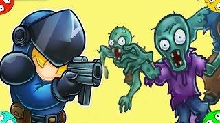 🐾 Отстрел ЗОМБИ в городе #4 Зомбяшные воины продолжаются ZOMBO BUSTER. Мультик игра