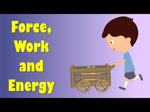 Force, Work and Energy | #aumsum #kids #science