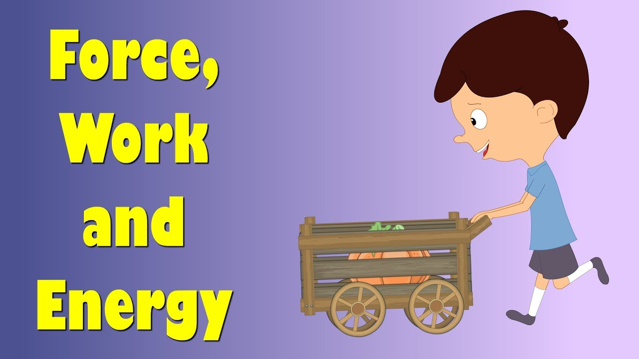 force, work and energy for kids | #aumsum #kids #education #science