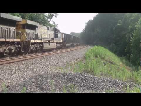 CSX Coal Train At Scary Creek, West Virginia.