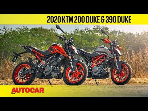 2020 KTM 200 Duke & 390 Duke BS6 Review | First Track Ride | Autocar India