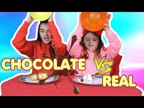 CHOCOLATE VS REAL FOOD CHALLENGE by MARGHE GIULIA KAWAII