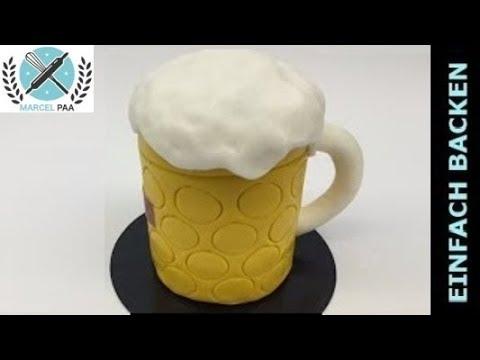 3D BierglasMasskrug Torte Beer glass cake  YouTube
