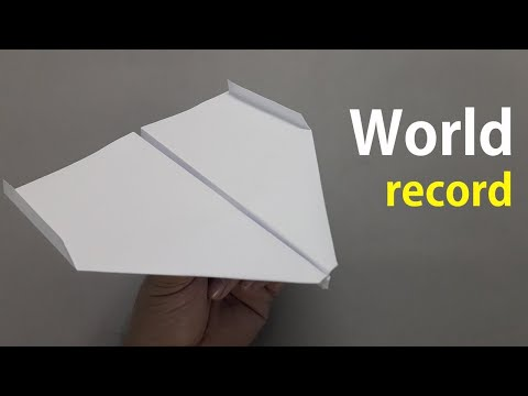 How to fold the World Record Paper Airplane Comes to you, Again And Again || Make World Record ✈️