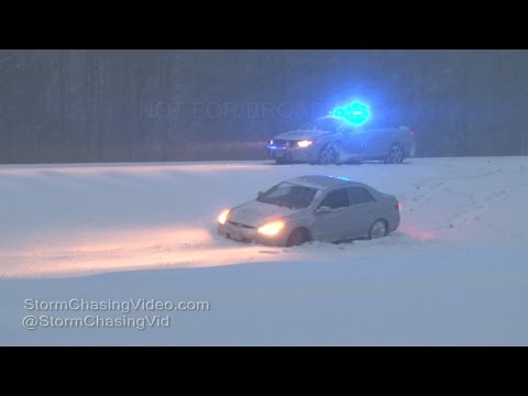 Emporia, Virginia Winter Storm Travel Nightmare - 1/7/2017