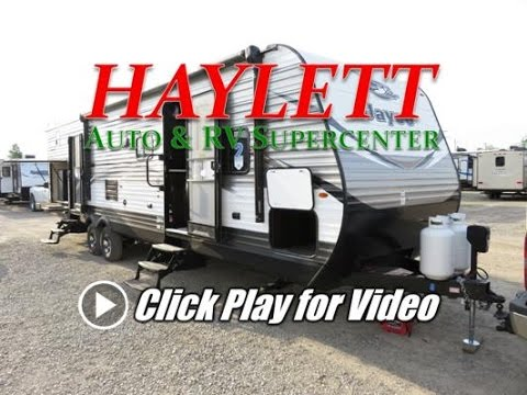 2018 - Jayco Jay Flight 32BHDS Bunkhouse Outside Kitchen Bathroom Entry Door Travel Trailer