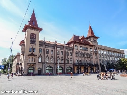 Russian Most Prettiest Pedestrian Street with German Castle. Saratov the Jewel on Volga River