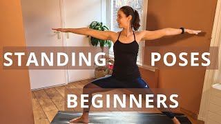 STANDING YOGA POSES for BEGINNERS on YouTube | Full Body Stretch
