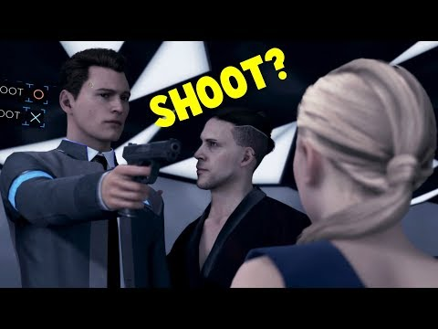 Connor Shoot vs Don't Shoot Chloe - Detroit Become Human HD PS4 Pro