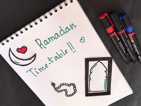 Ramadan Series:ramadan Time Table|pray All Day| Few Minutes 2 Us😍🍱🕌