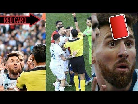 Месси удален в матче Кубка Америки за стычку