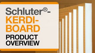 Schluter®-KERDI-BOARD: Product Overview: Panels, Profiles & Accessories