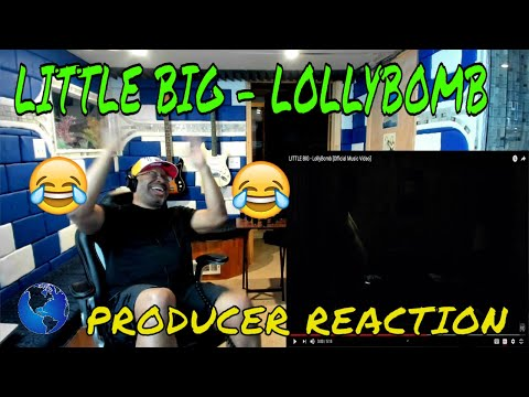 LITTLE BIG   LollyBomb Official Music Video - Producer Reaction