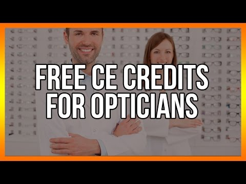 Free CE Credits for Opticians - Optometry Continuing Education