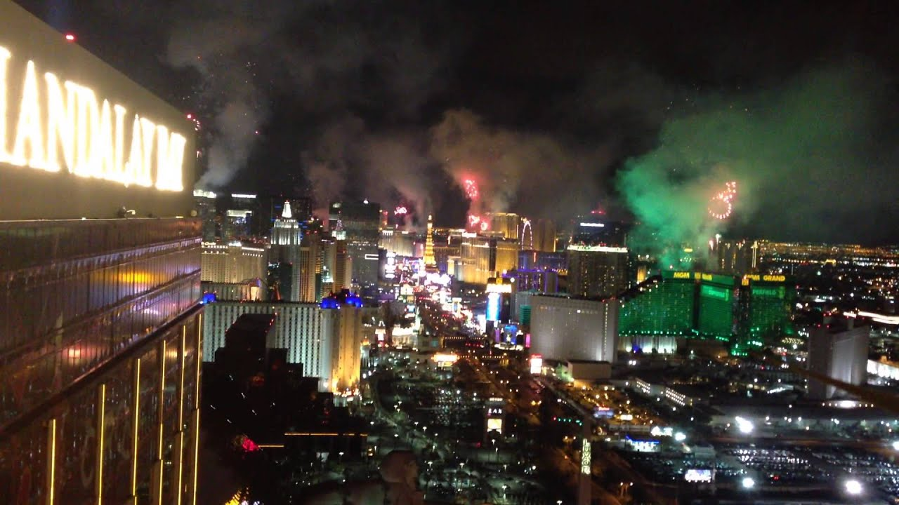 New Years Eve Fireworks view from Mandalay Bay Foundation Room ...