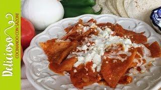 Chilaquiles Rojos Súper Faciles y Deliciosos / Mexican Red Chilaquiles