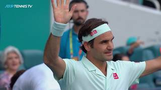 FANTASTIC Federer shots in win over Medvedev | Miami Open 2019