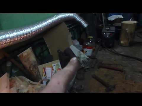 Печка буржуйка в гараже
