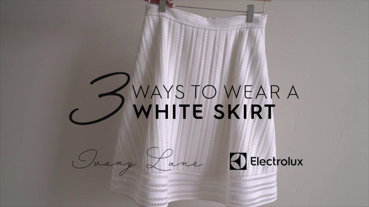 Wear to what under white skirts best photo