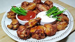 Готовьте сразу много! Остро-сладкие Куриные крылышки. Крылышки в медовом соусе в духовке.
