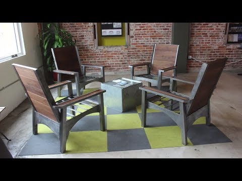 Modern Adirondack office chairs | DIY