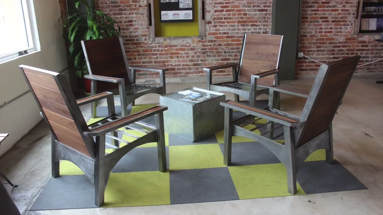 Modern Adirondack office chairs  DIY  YouTube