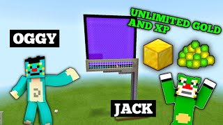 Unlimited Gold And Xp Farm Tutorial In Minecraft part 41 With Oggy and Jack