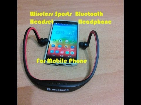 Wireless Sports Bluetooth Headset Headphone For Smartphone