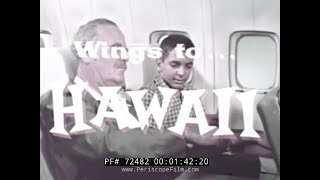 Pan Am Airlines Wings To Hawaii Travelogue  Honolulu 72482