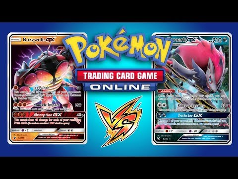 Buzzwole GX  Lycanroc GX vs Zoroark GX   Pokemon TCG Online Game Play