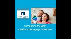How to Complete the 203k Maximum Mortgage Worksheet