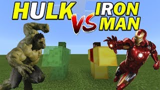 HULK vs IRONMAN | Minecraft PE
