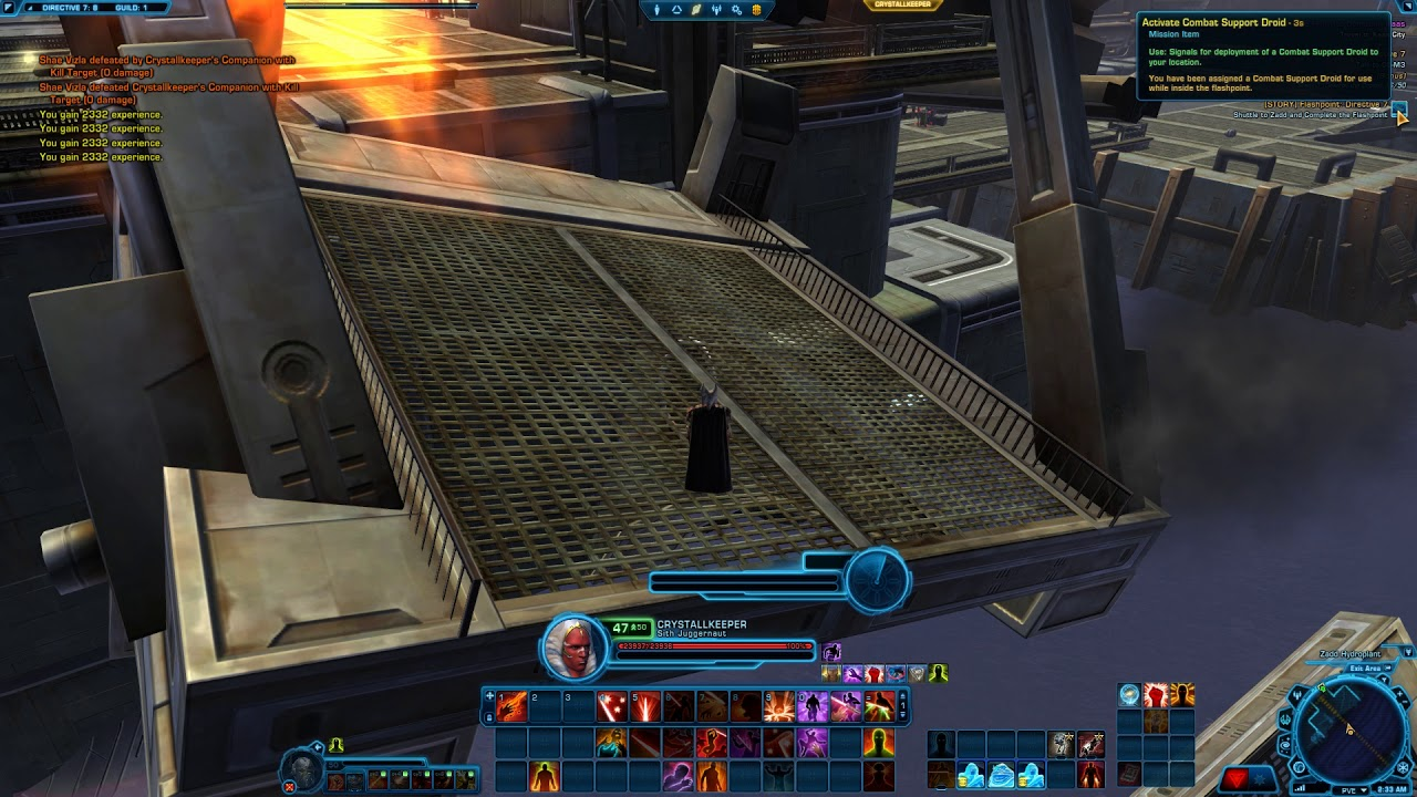 Swtor stupid XP farm for bots (bug in Directive 7)